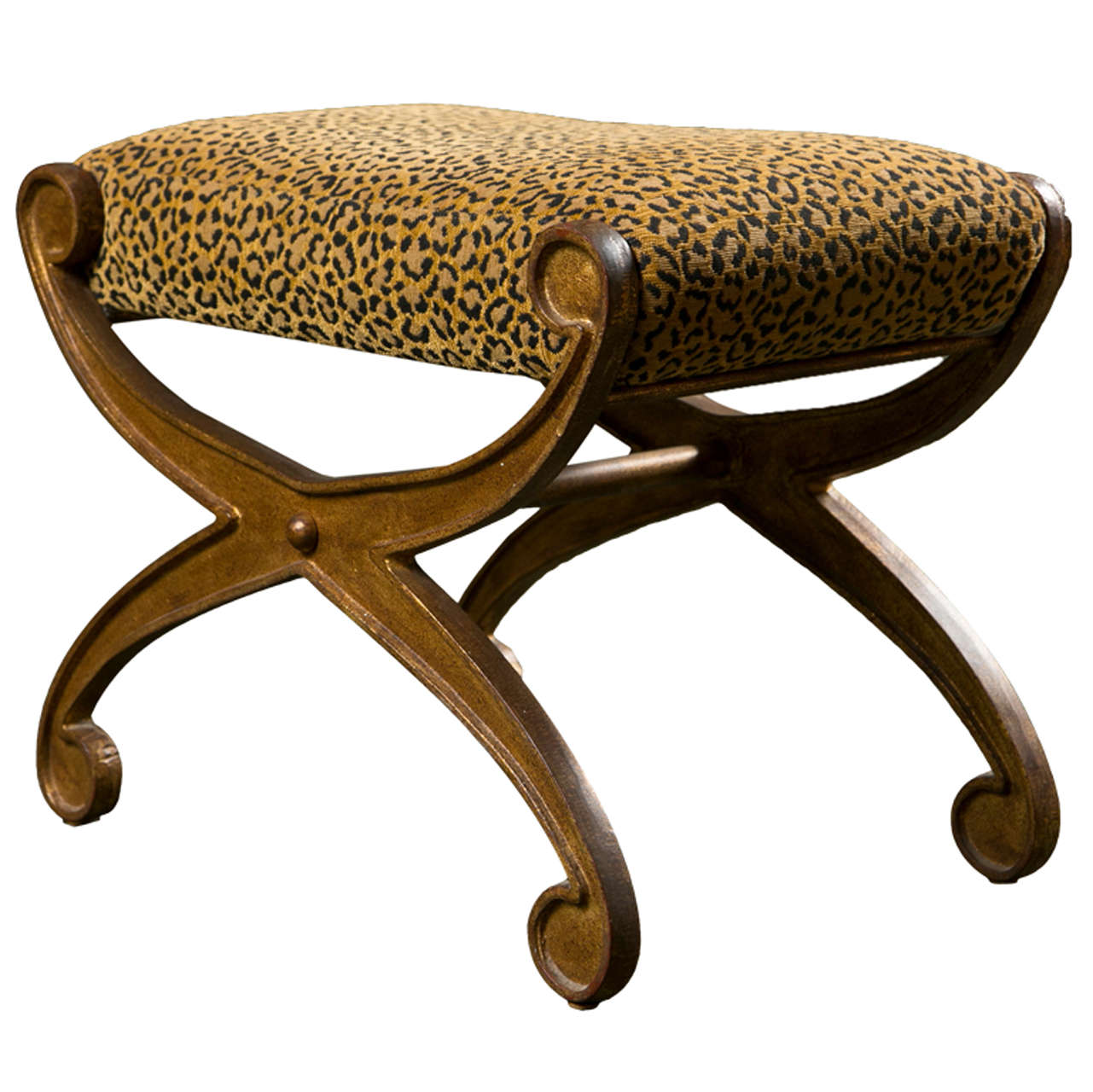 Cast Iron Curule Form Bench At 1stdibs