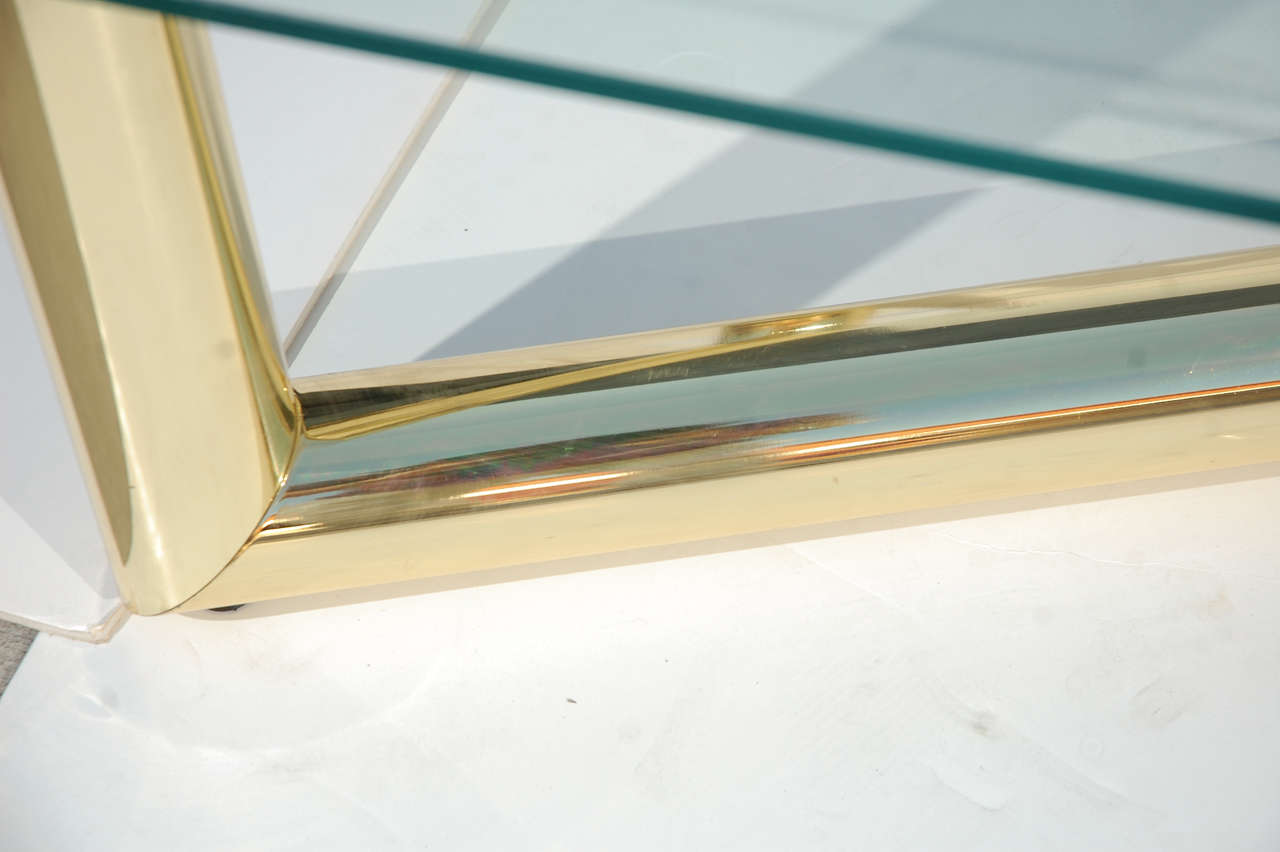 Tubular brass glass coffee table attributed to karl springer image 6 - The tubular glass house ...