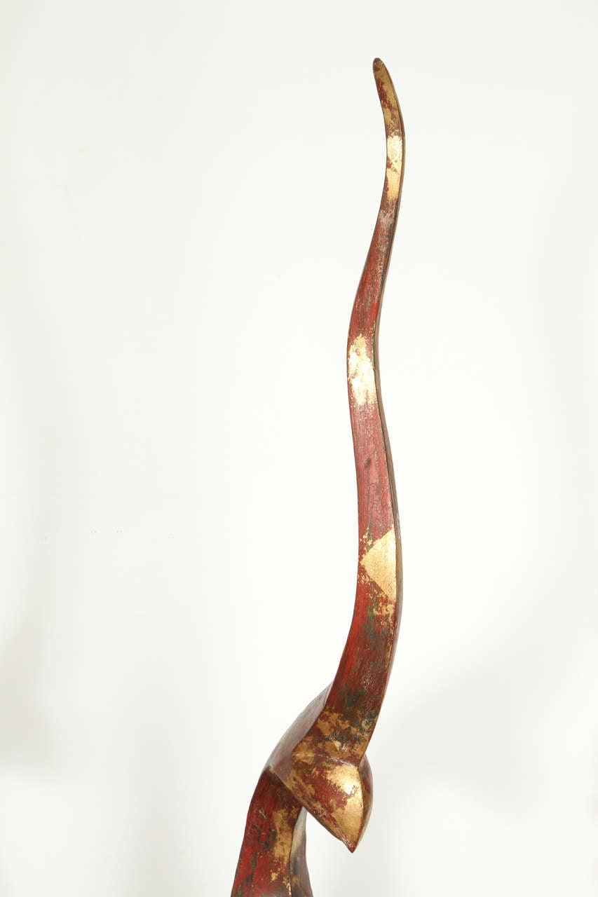 Great Sculpture Of Thai Wooden Gilted Chofa At 1stdibs
