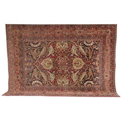 Persian Kermanshah Carpet circa 1890 in Handspun Wool and Vegetable Dyes