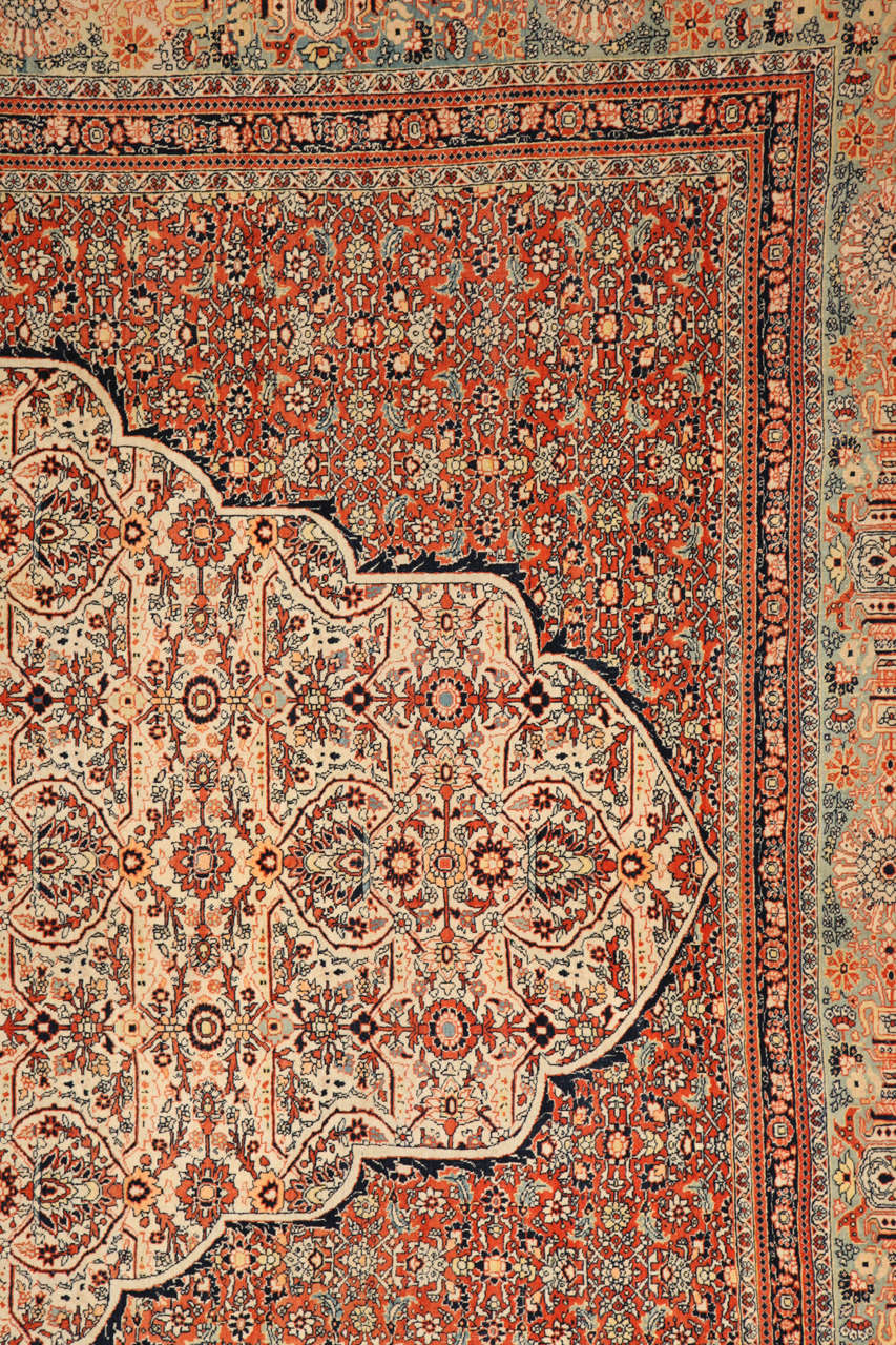 Vegetable Dyed Persian Haji Jalili Tabriz Carpet, circa 1890 For Sale