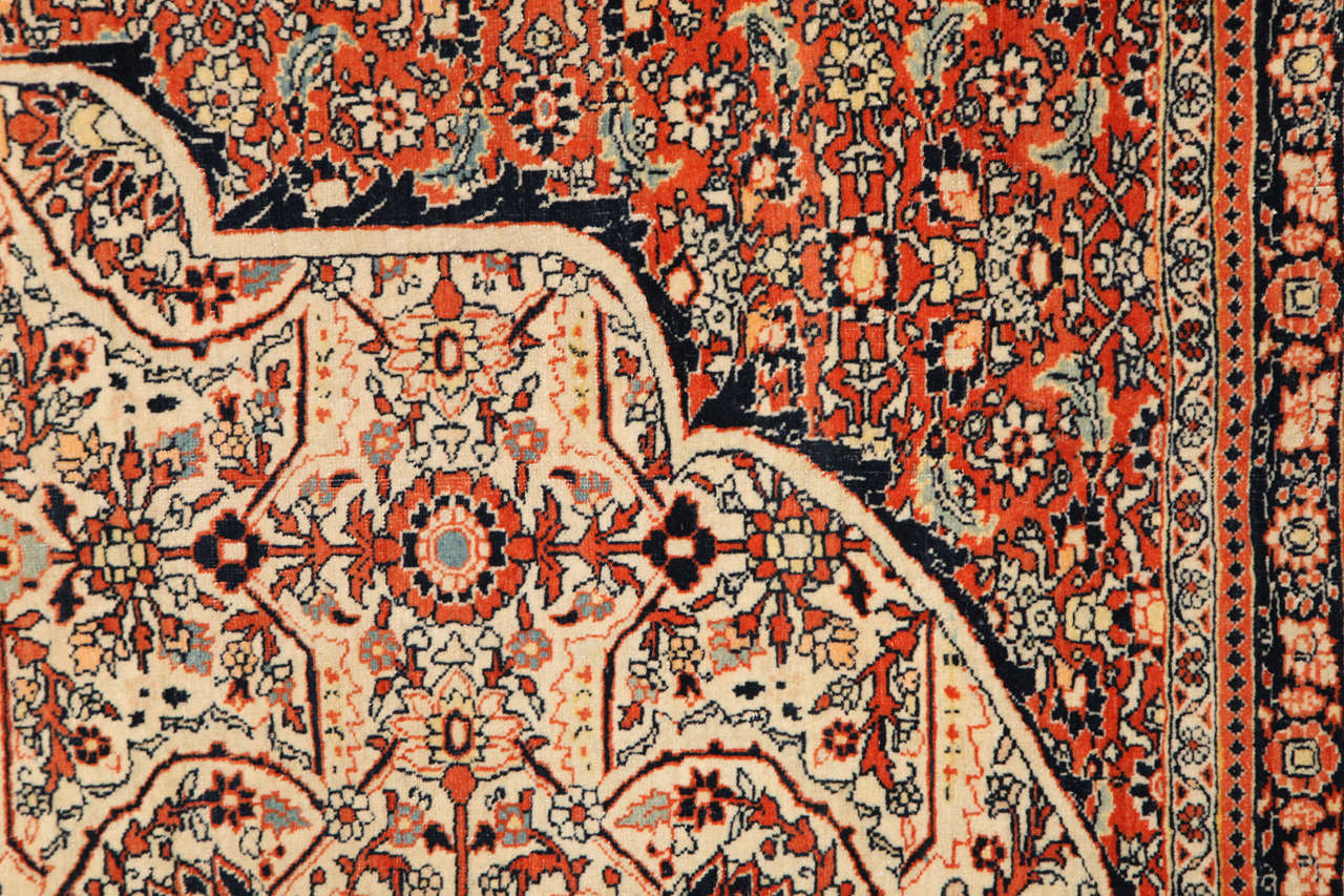 19th Century Persian Haji Jalili Tabriz Carpet, circa 1890 For Sale