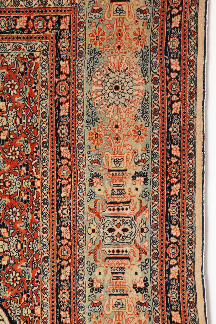 Wool Persian Haji Jalili Tabriz Carpet, circa 1890 For Sale