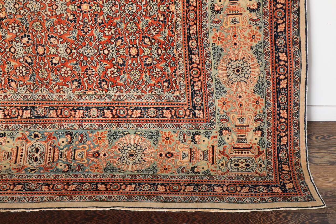 Persian Haji Jalili Tabriz Carpet, circa 1890 For Sale 1
