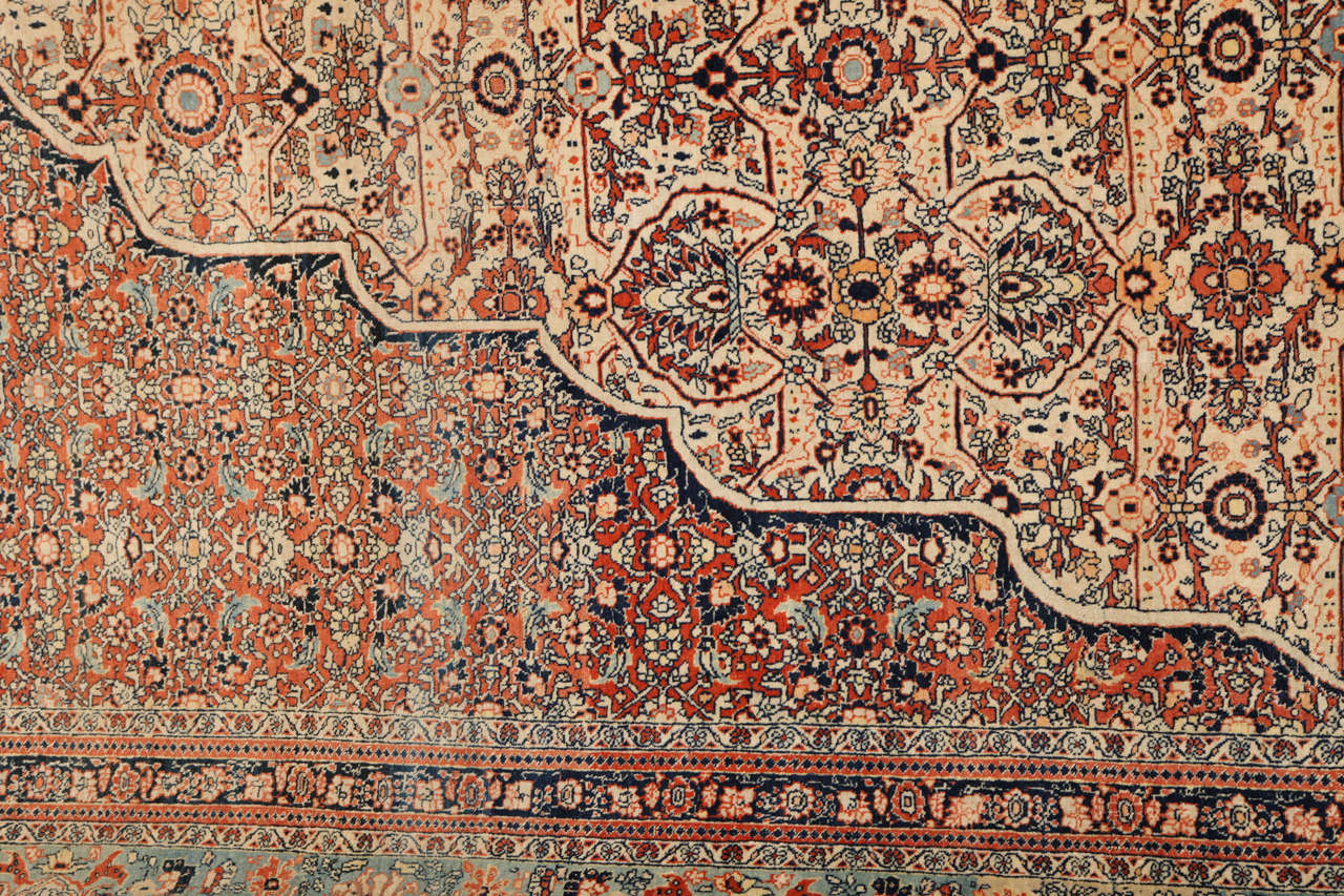 Persian Haji Jalili Tabriz Carpet, circa 1890 For Sale 2