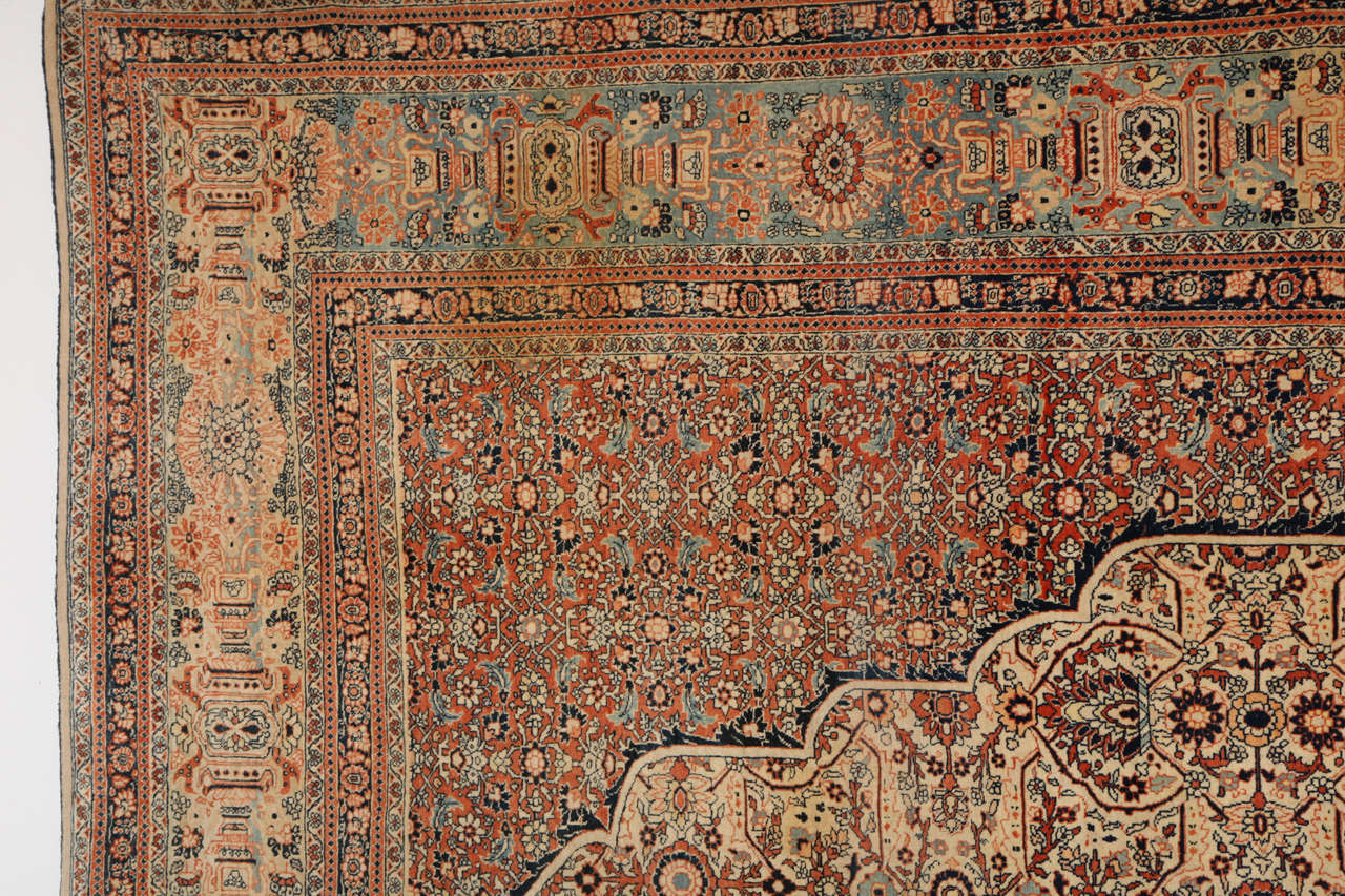 Persian Haji Jalili Tabriz Carpet, circa 1890 For Sale 3