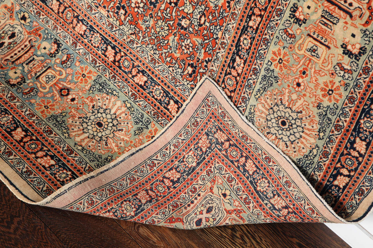 Persian Haji Jalili Tabriz Carpet, circa 1890 For Sale 4