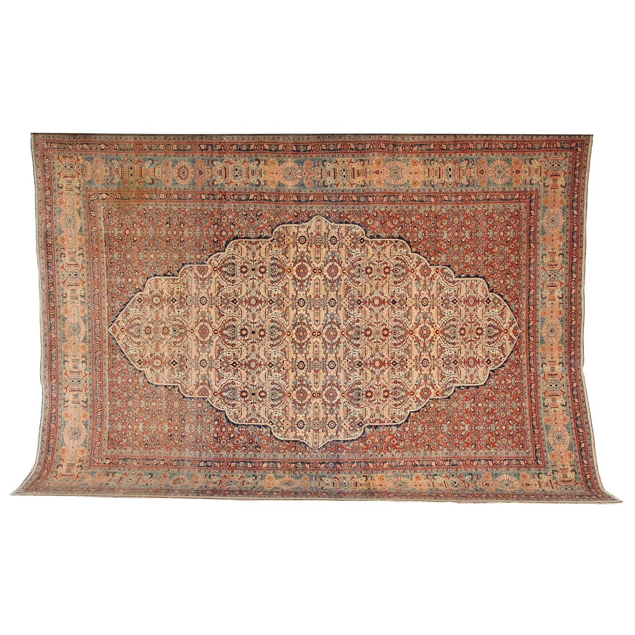 Persian Haji Jalili Tabriz Carpet, circa 1890