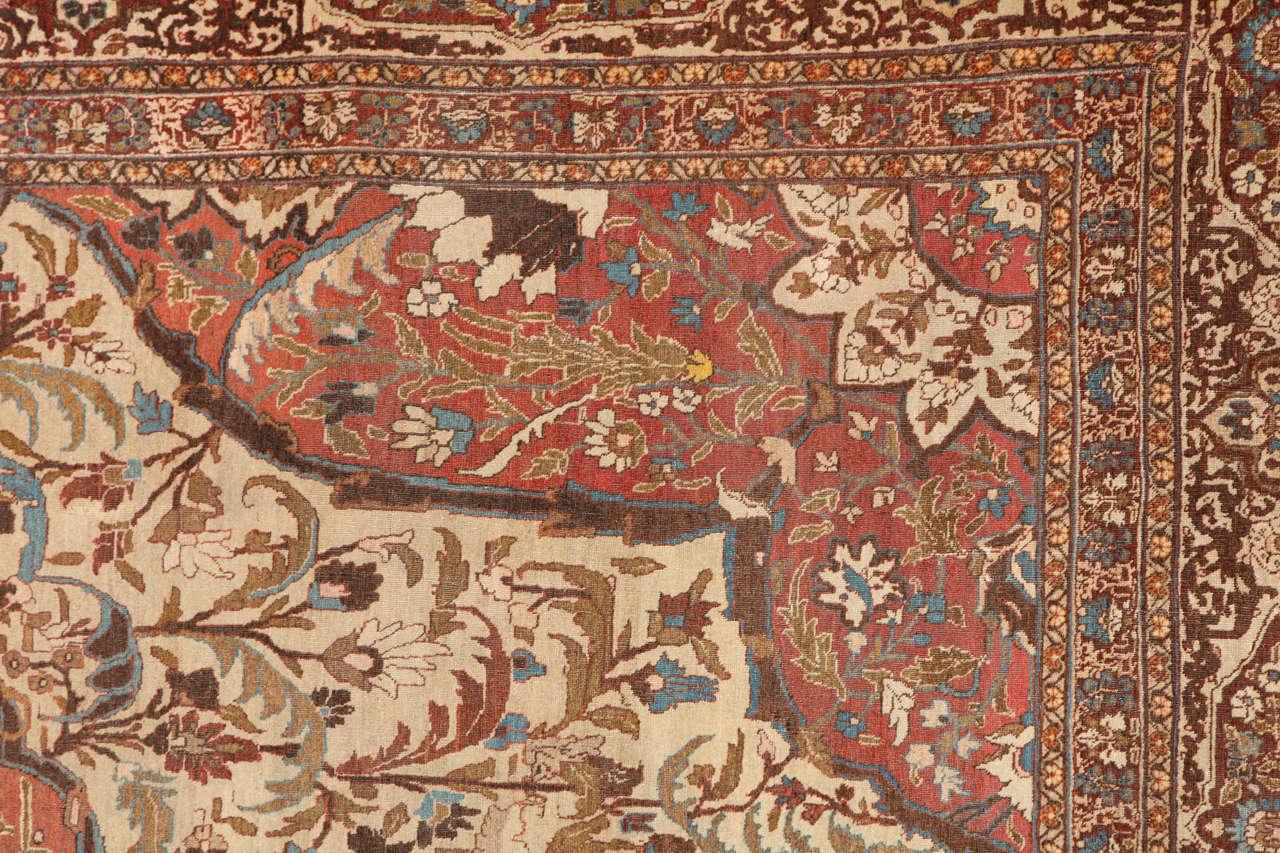 Persian Haji Jalili Tabriz Carpet, circa 1880 In Good Condition For Sale In New York, NY