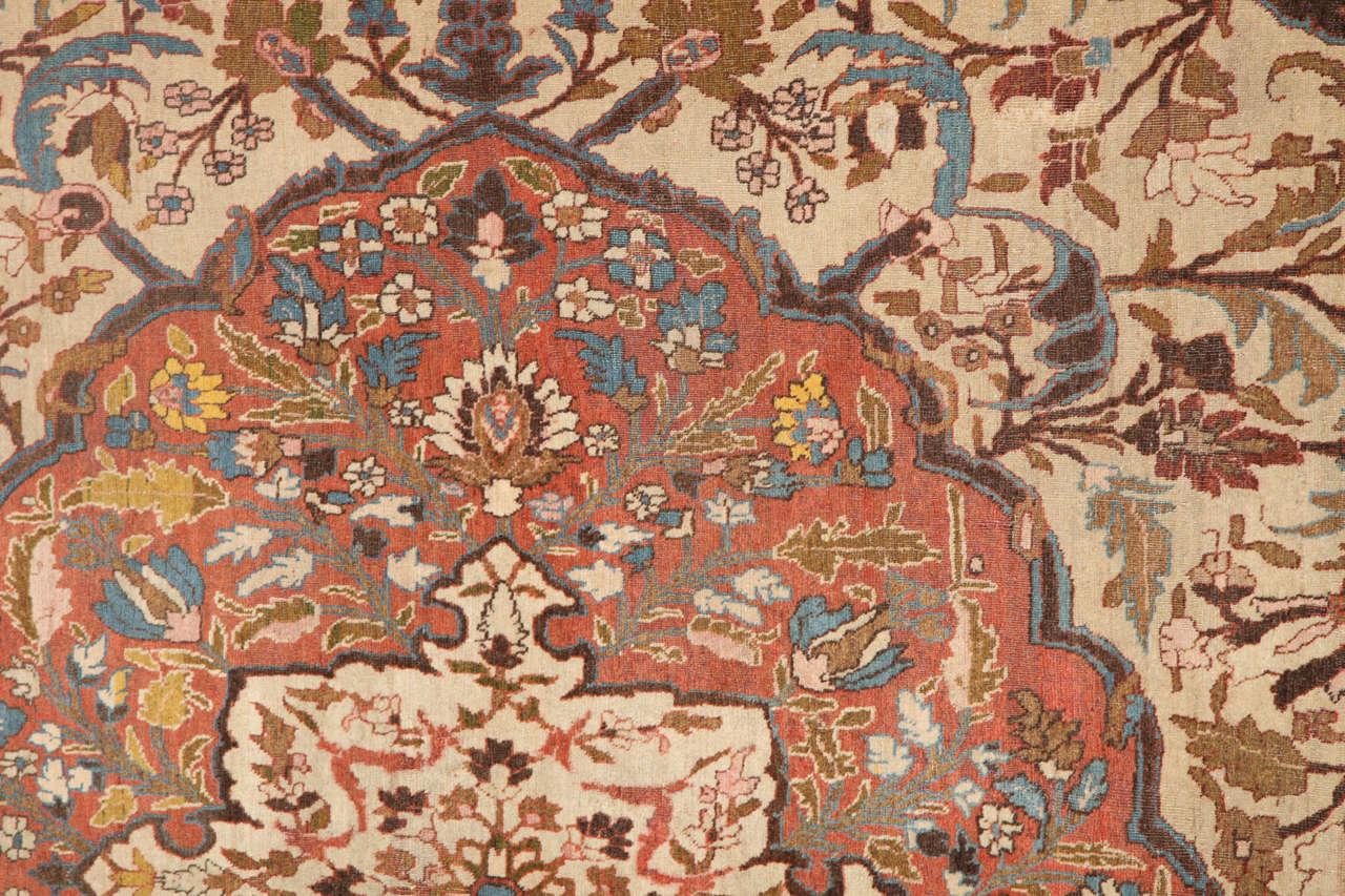19th Century Persian Haji Jalili Tabriz Carpet, circa 1880 For Sale