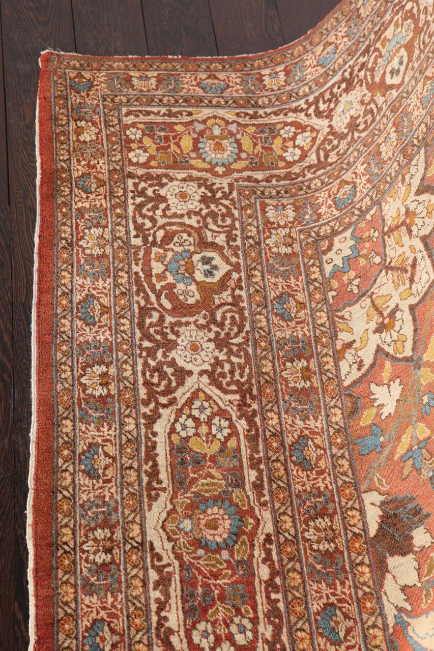 Wool Persian Haji Jalili Tabriz Carpet, circa 1880 For Sale