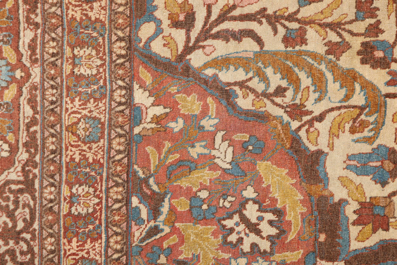 Persian Haji Jalili Tabriz Carpet, circa 1880 For Sale 1