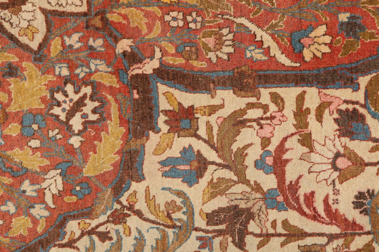 Persian Haji Jalili Tabriz Carpet, circa 1880 For Sale 3
