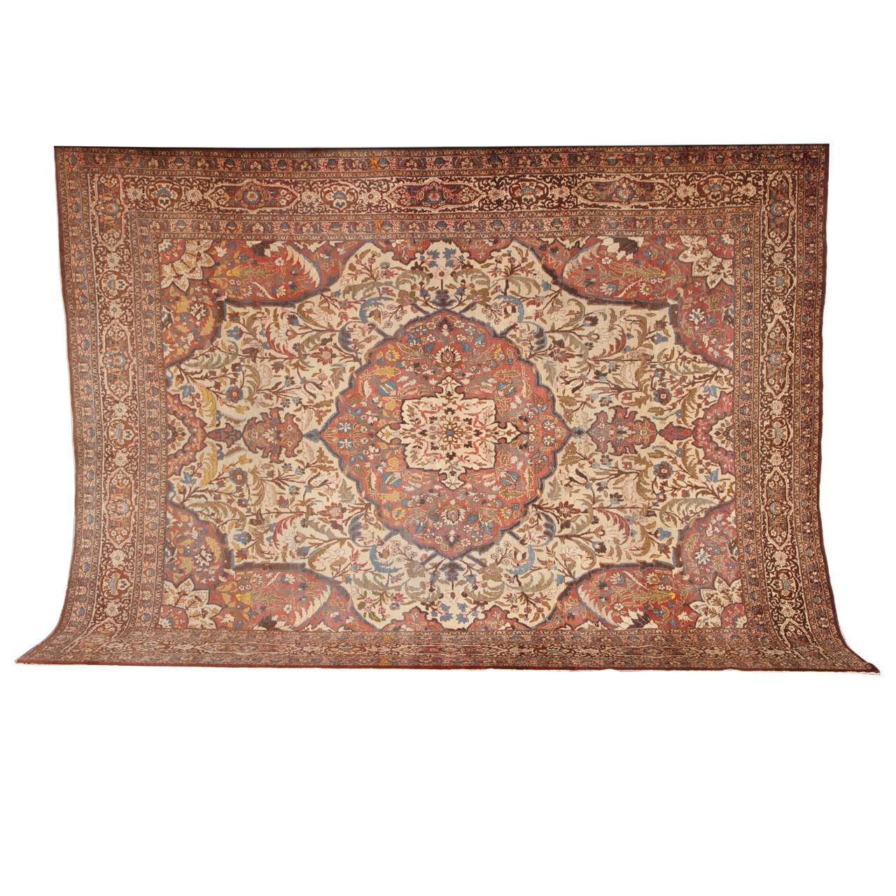 Persian Haji Jalili Tabriz Carpet, circa 1880