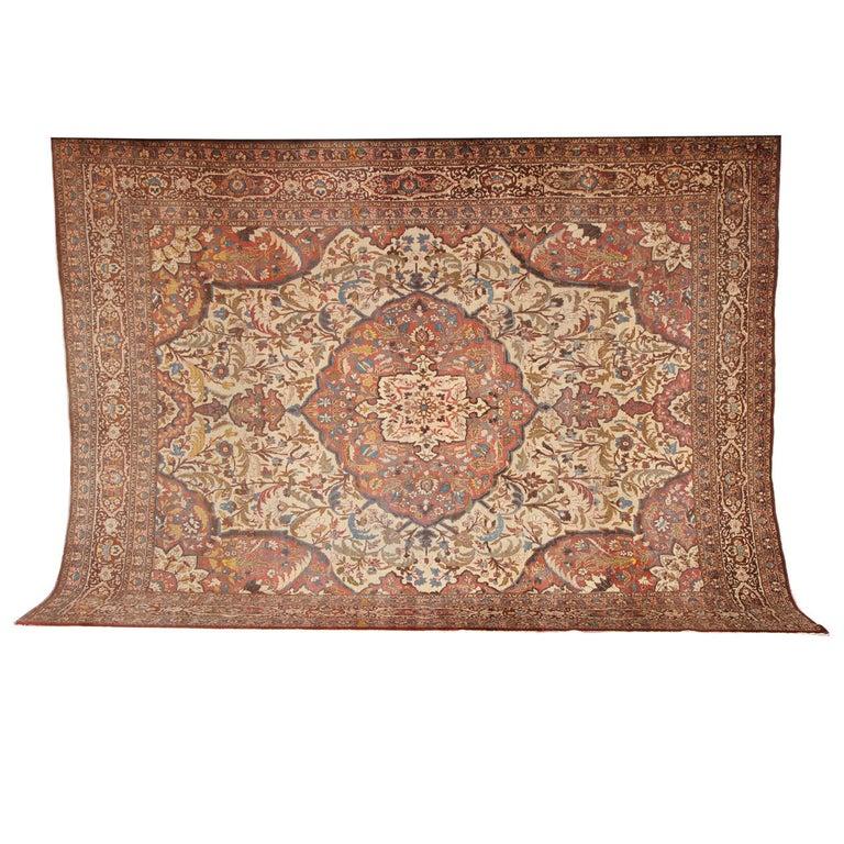 Persian Haji Jalili Tabriz Carpet, circa 1880 For Sale
