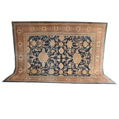 Persian Sultanabad Carpet, circa 1880 in Handspun Wool and Natural Vegetal Dyes