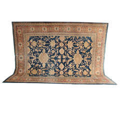 Persian Sultanabad Carpet, circa 1880 in Handspun Wool and Natural Vegetal Dyes