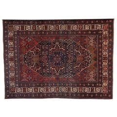 Persian Joshagan Khosroabad Carpet, circa 1900 in Handspun Wool and Vegetal Dyes