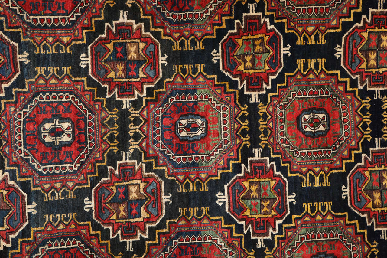 Hand-Knotted Persian Amal Ziegler Bakhtiari Carpet, circa 1890 For Sale