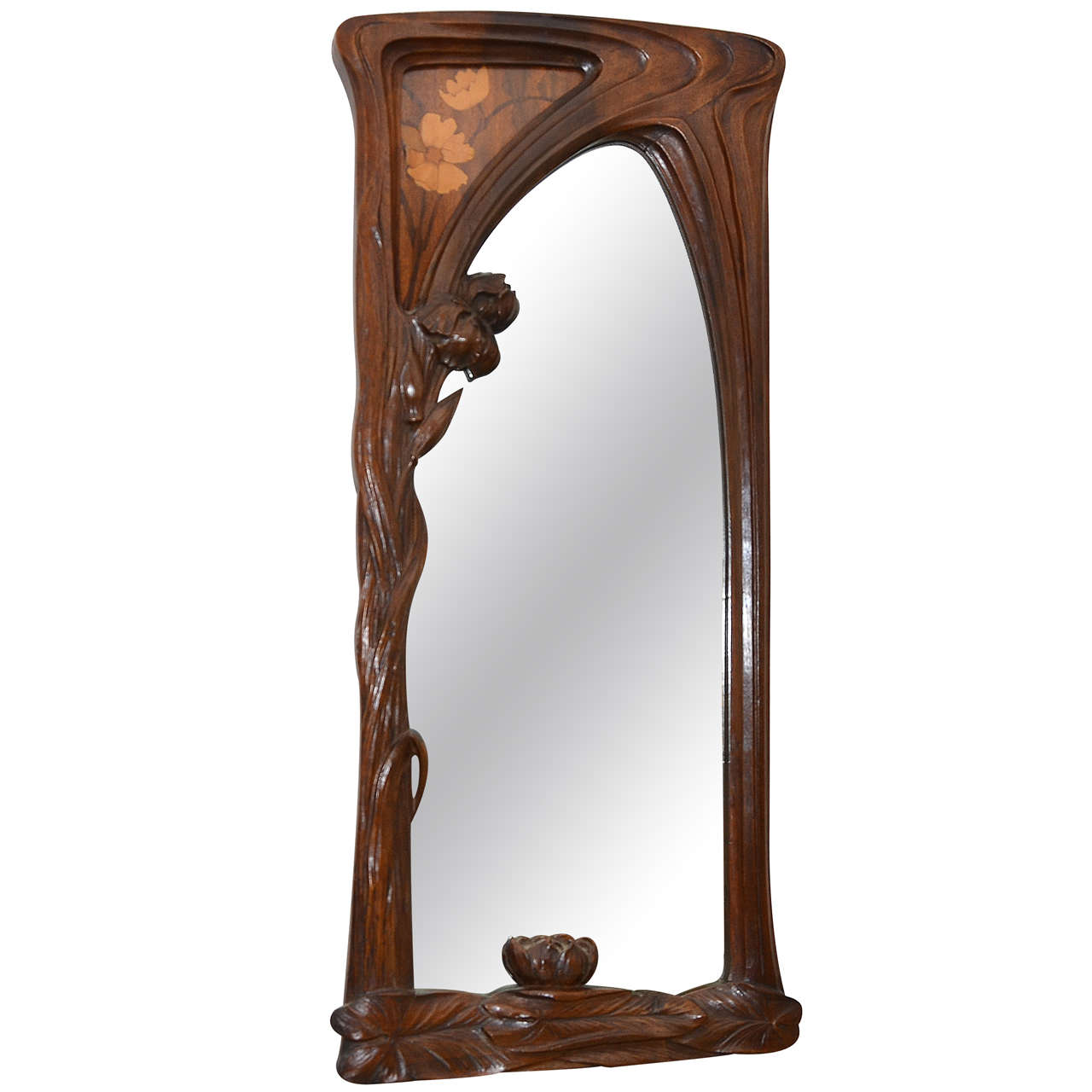 Early 20th Century Art Nouveau Mirror Attributed to J ...