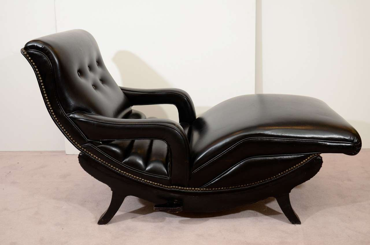 leather reclining chaise lounge