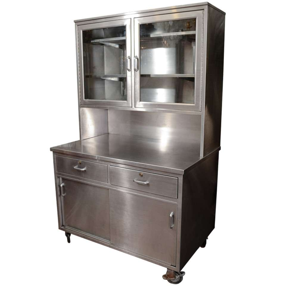 industrial stainless steel and glass sideboard. Black Bedroom Furniture Sets. Home Design Ideas