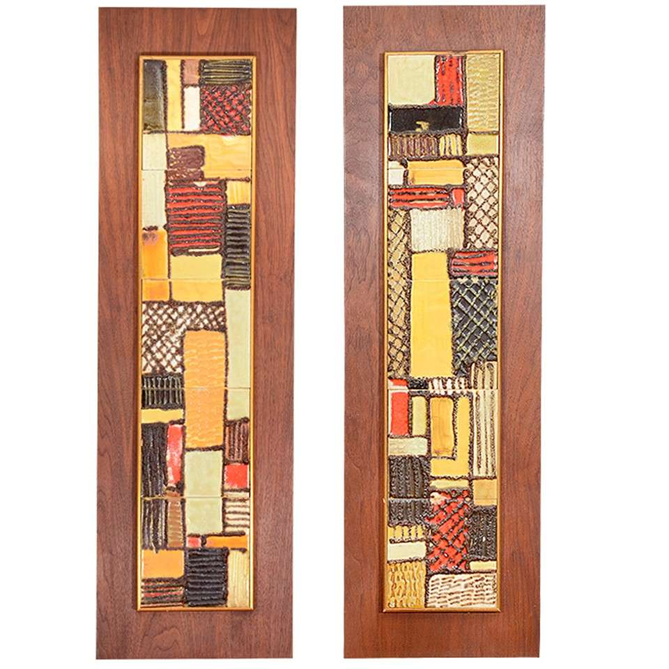 Pair of mid century tiles by harris strong at 1stdibs pair of mid century tiles by harris strong for sale shiifo