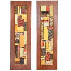 Pair of Mid Century Tiles by Harris Strong