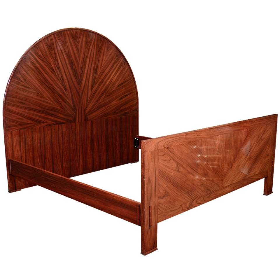 Large Art Deco Bed Frame In Rosewood At 1stdibs