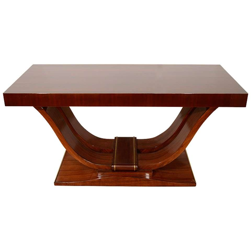 french art deco rosewood console table by dominique at 1stdibs. Black Bedroom Furniture Sets. Home Design Ideas