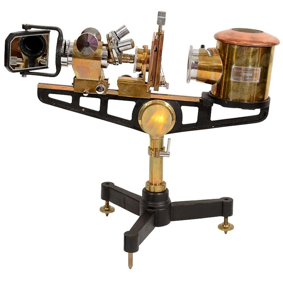 Antique Science Instruments : Vintage precision micro projector by flatters and garnett