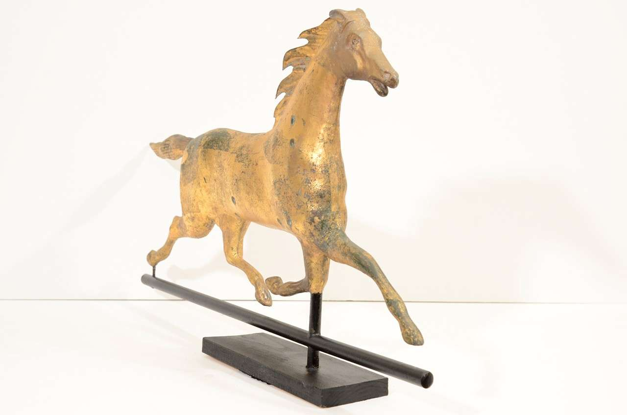 Antique 19th Century Gilt Copper Horse Weathervane At 1stdibs