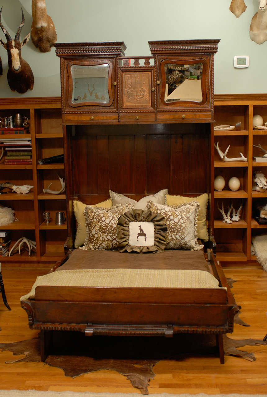 Rare Murphy Bed Of Mahogany New York Circa 1885 At 1stdibs