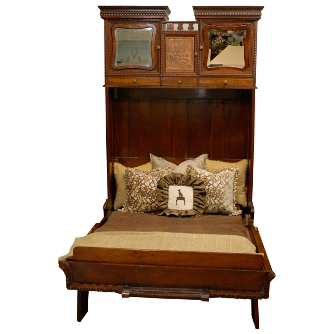 Rare Murphy Bed Of Mahogany, New York, Circa 1885 At 1stdibs