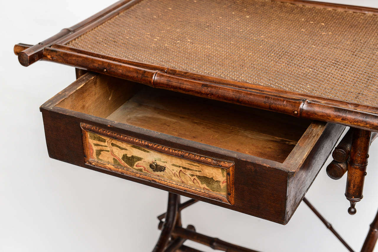 19th Century English Bamboo Vanity or Writing Desk For Sale 1