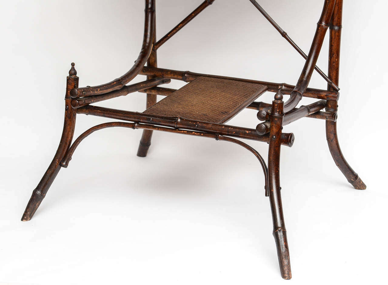 19th Century English Bamboo Vanity or Writing Desk For Sale 4