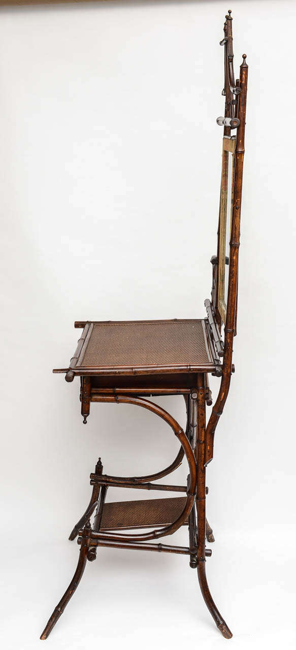 19th Century English Bamboo Vanity or Writing Desk For Sale 5