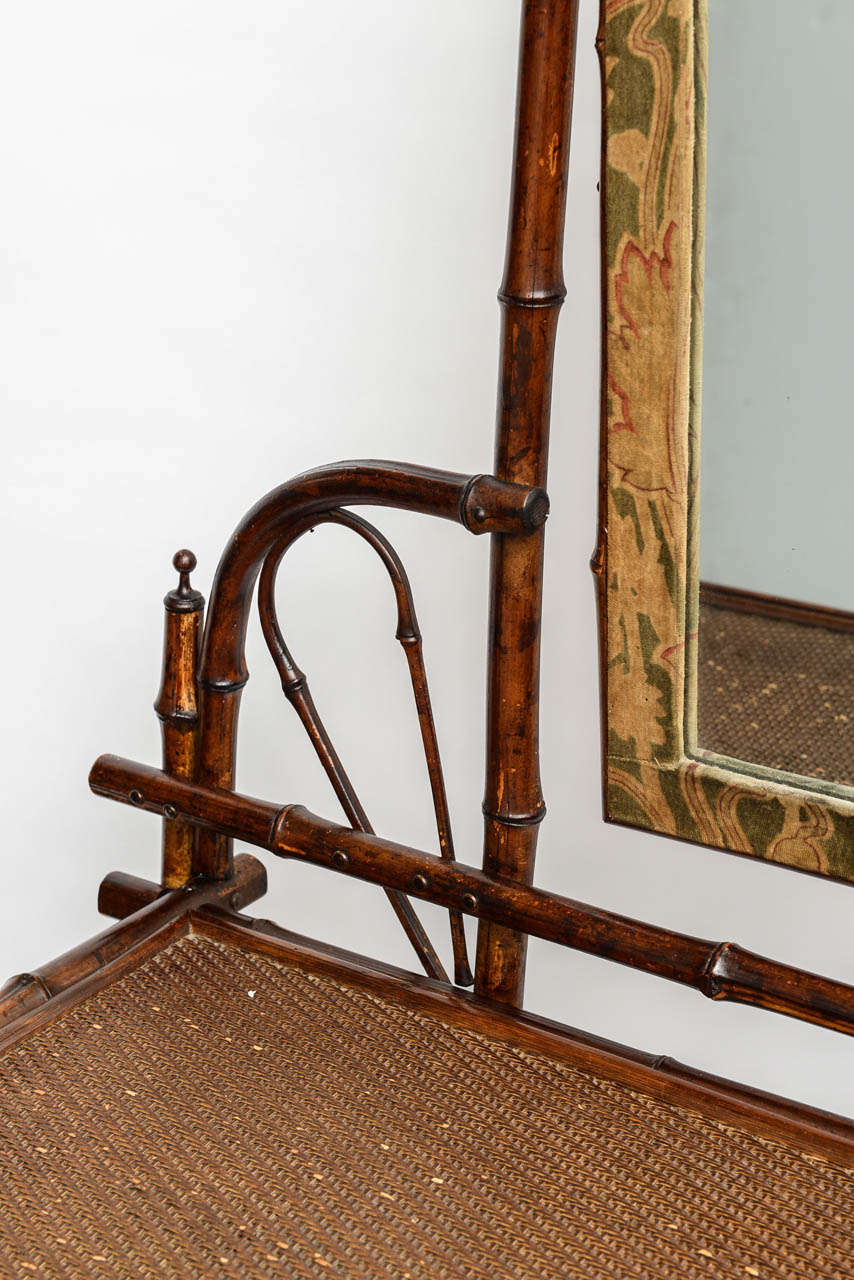 19th Century English Bamboo Vanity or Writing Desk For Sale 7