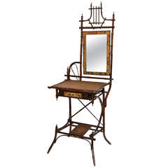 19th Century English Bamboo Vanity or Writing Desk