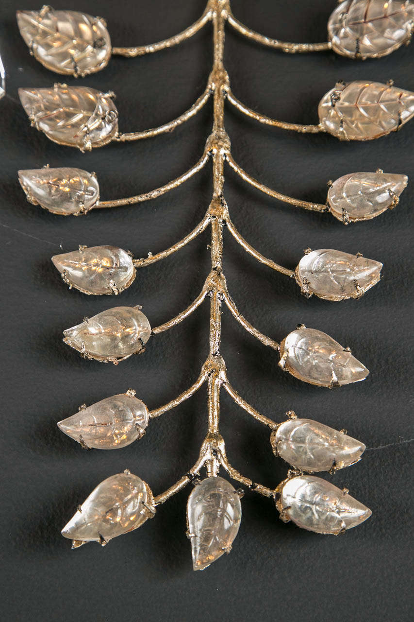 Mid-20th Century Set of Six 1930s French Crystal Sconces For Sale
