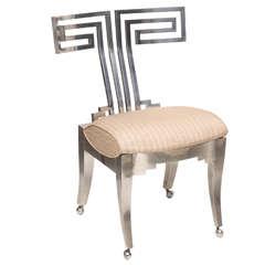 Spectacular Klismos Side Chair With Greek Key Back