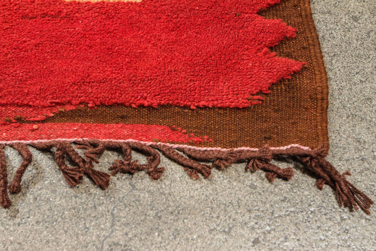 Vintage Moroccan Tribal North African Rug For Sale 2