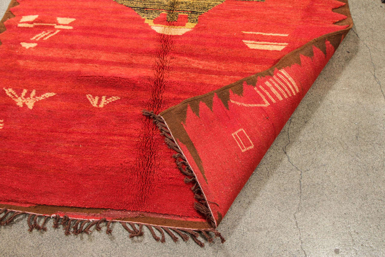 Vintage Moroccan Tribal North African Rug For Sale 3