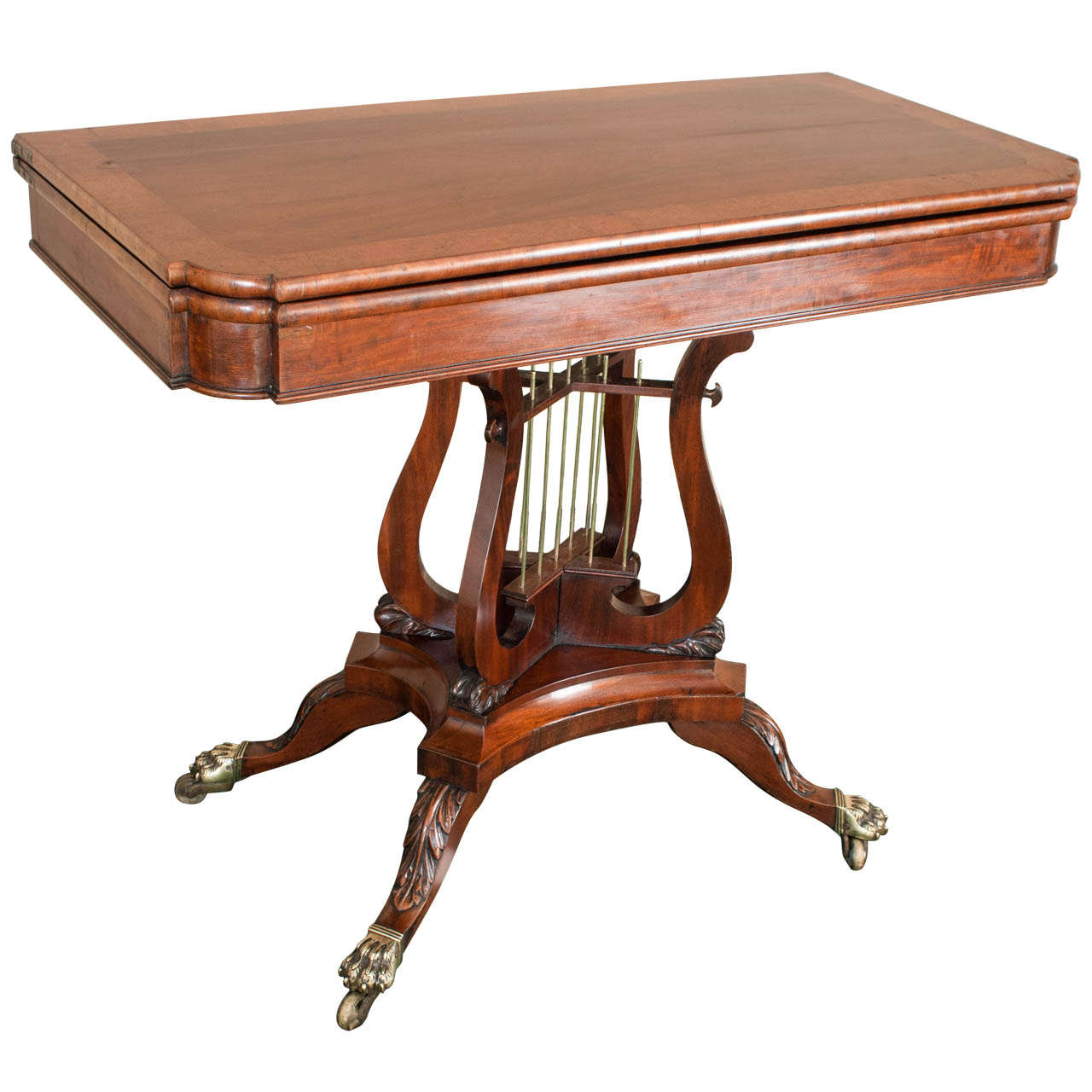 Federal Cross-Lyre Card Table