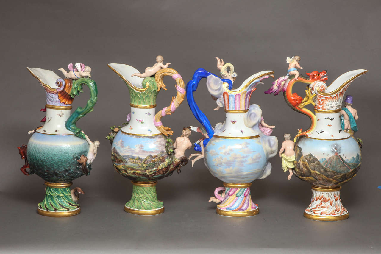 Rare and important set of four meissen ewers of the four elements a very rare and important set of four meissen ewers emblematic of the elements the reviewsmspy