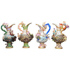 Rare and Important Set of Four Meissen Ewers of the Four Elements by J. Kandler