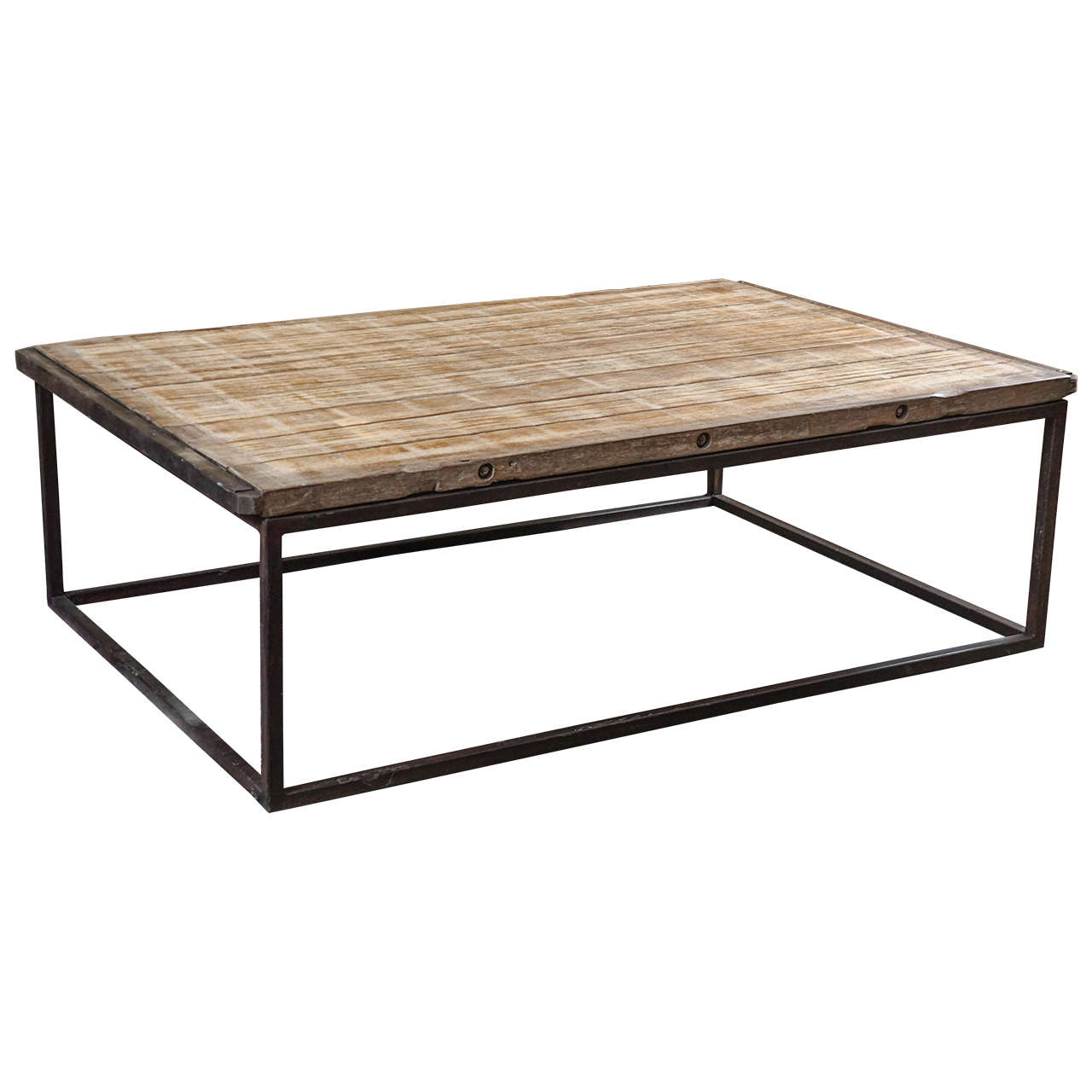 Industrial style coffee table for sale at 1stdibs for Industrial farmhouse coffee table