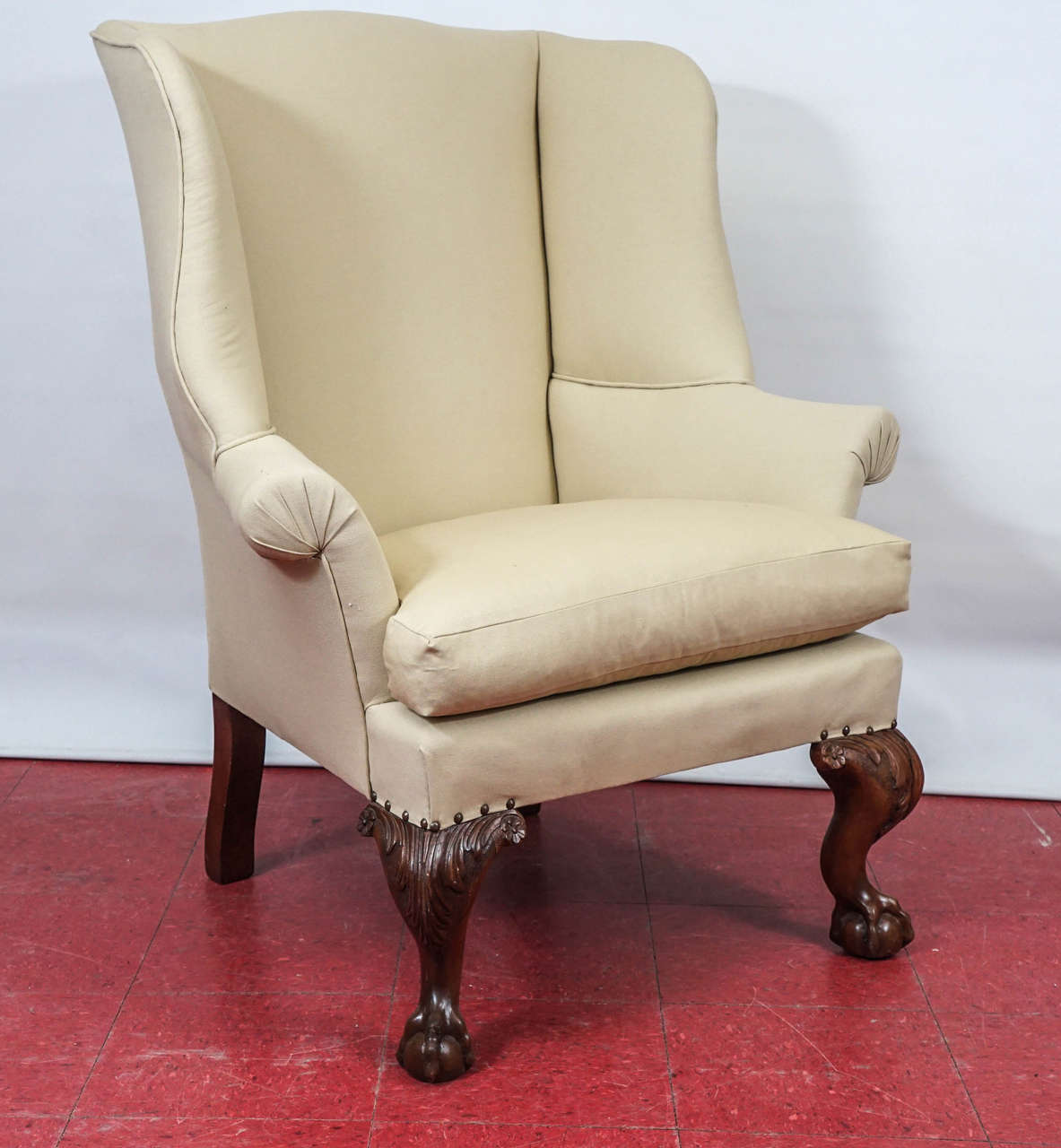 William IV Pair of George II Wingback Chairs For Sale