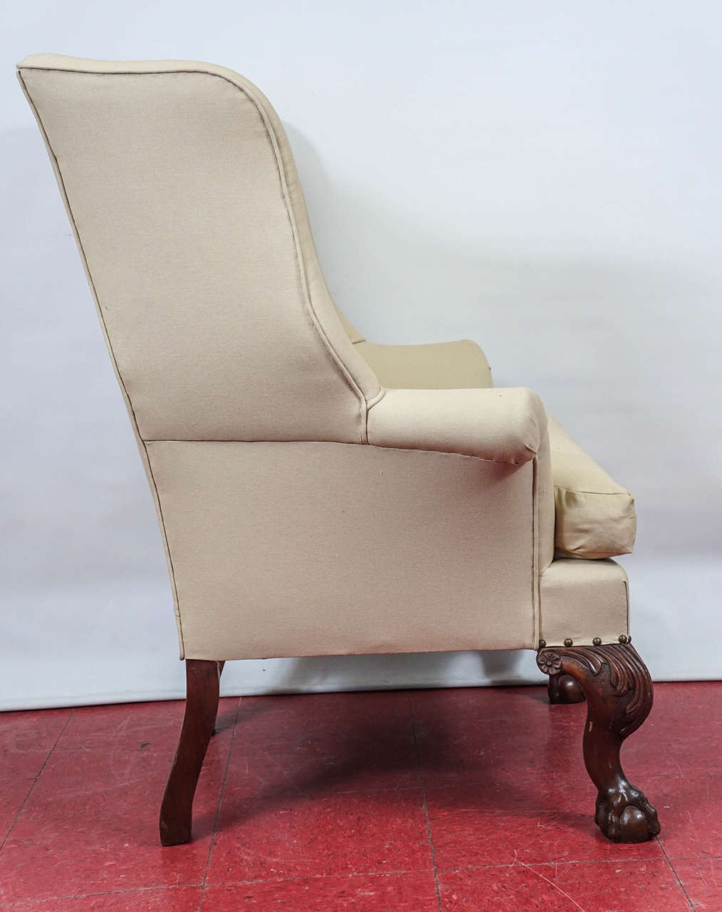 English Pair of George II Wingback Chairs For Sale