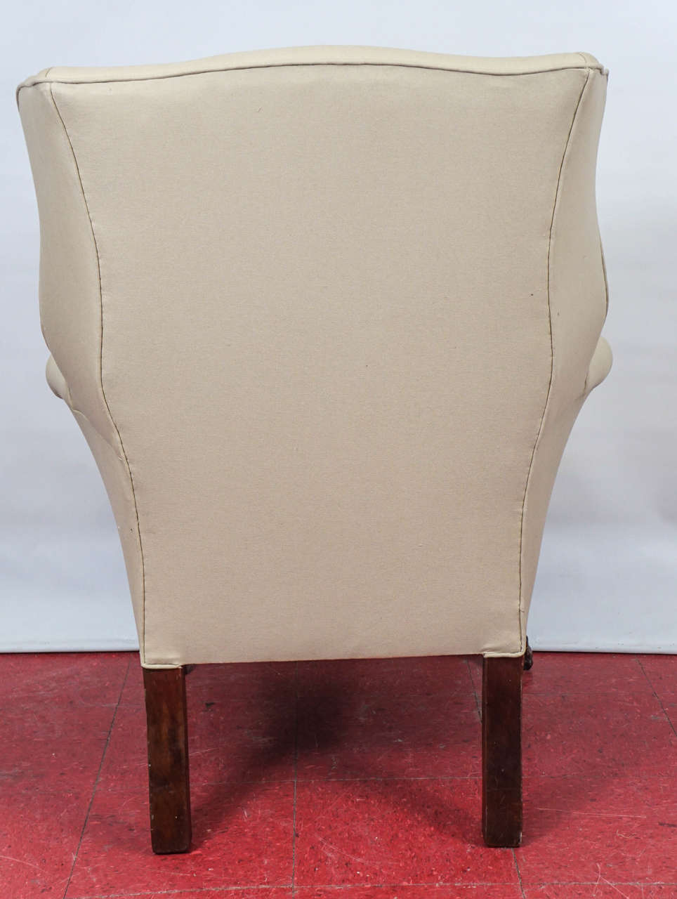 Carved Pair of George II Wingback Chairs For Sale